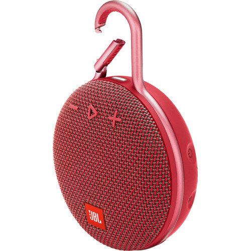 Червена безжична колонка JBL Clip 3 Portable Bluetooth Speaker (Fiesta Red)