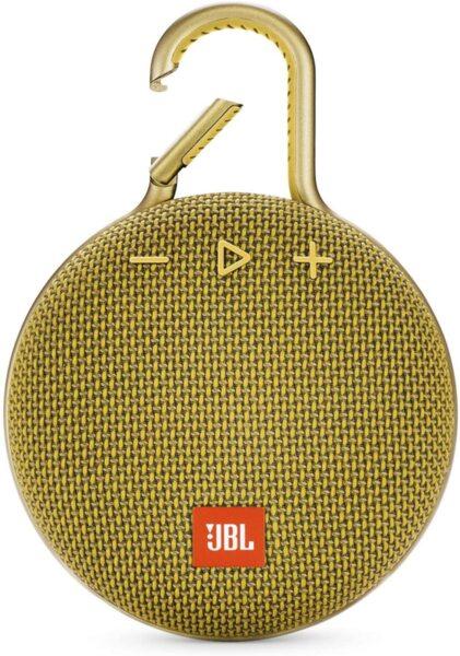 Жълта Безжична колонка JBL Clip 3 Portable Bluetooth Speaker (Mustard Yellow)