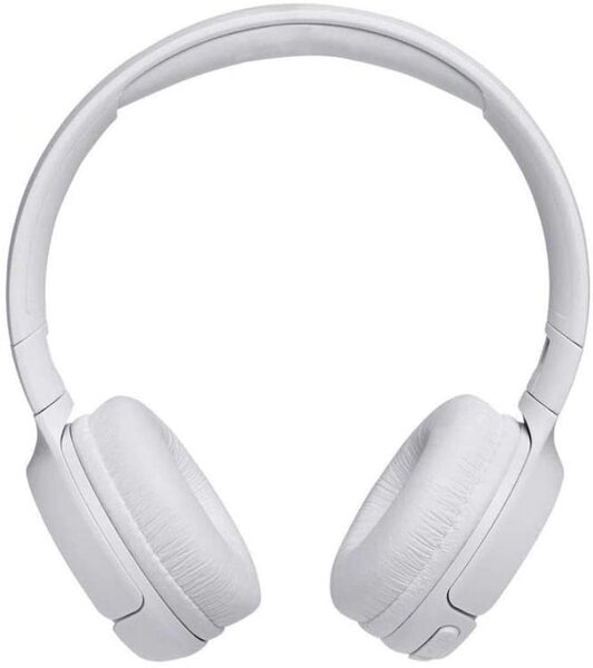 Бели безжични слушалки JBL TUNE500BT Wireless On-Ear Headphones with One-Button Remote and Mic