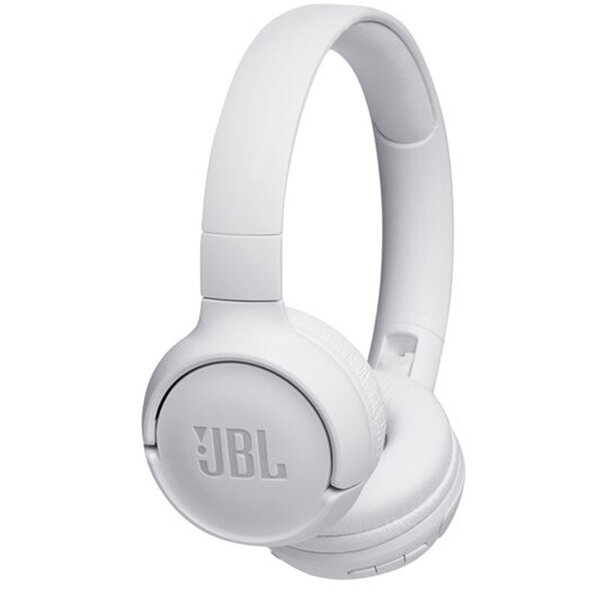JBL Tune 500BT Бели безжични слушалки  Wireless On-Ear Headphones with One-Button Remote and Mic (White)