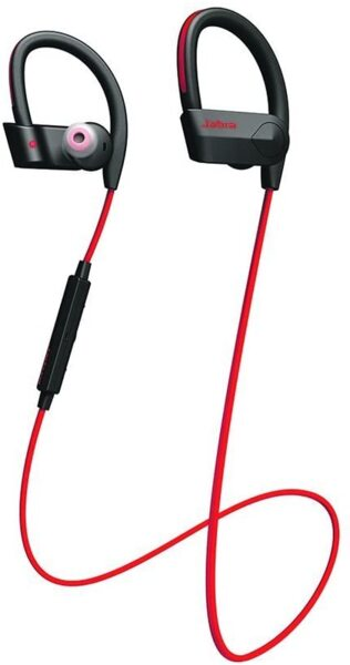 Червени безжични слушалки Jabra Sport Pace Wireless Bluetooth Stereo Headphones for Fitness - Red