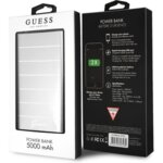 Преносима батерия Guess Stripes Alluminium Power Bank 5000mAh 5V/2.1A, Сребрист