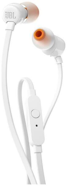 слушалки JBL T110 In-Ear Headphones (White)