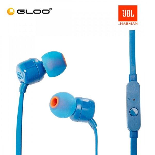 Сини Слушалки JBL T110 In-Ear Headphones (Blue)