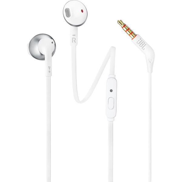 слушалки JBL T205 Earbud Headphones (Chrome)