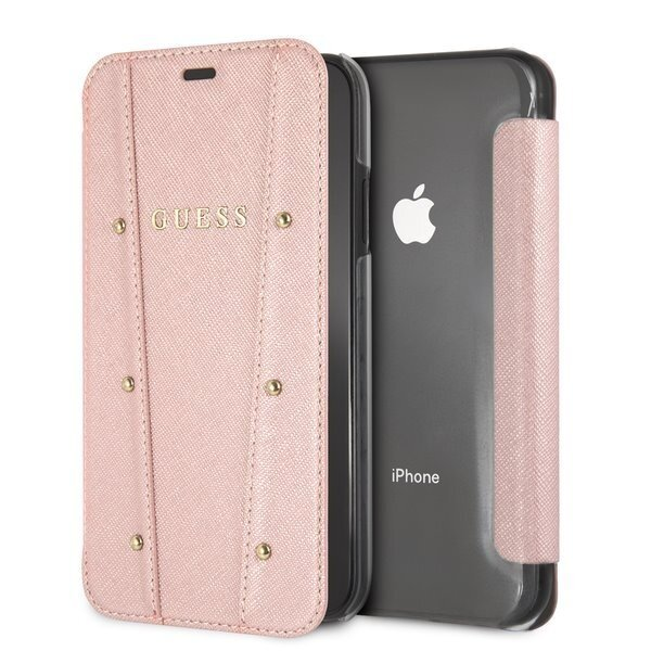 Kалъф от Guess Genuine Official Kaia Book Case Cover  за Iphone Xr Rose Gold