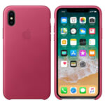 IPHONE X LEATHER CASE PINK