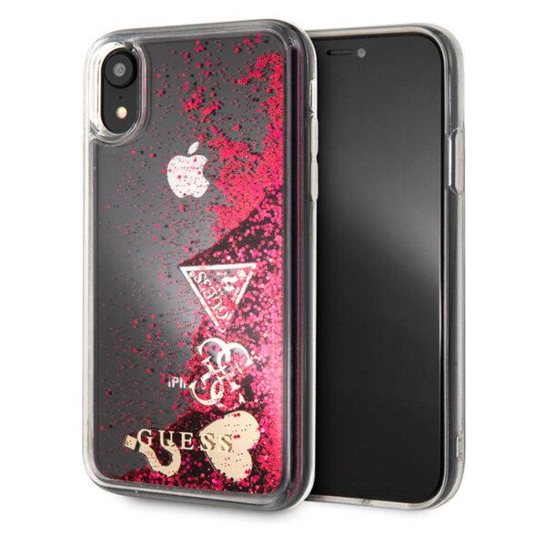 Калъф от Guess Glitter Case Hearts за iPhone XR