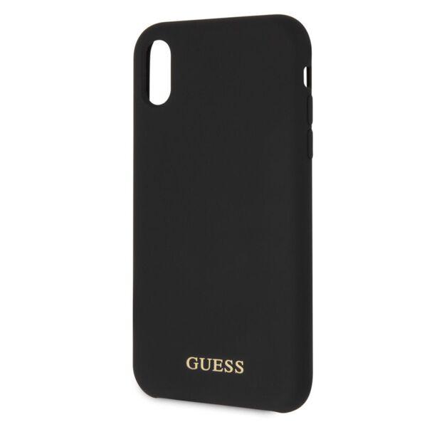 Kалъф от Guess Silicone Gold Logo Case за iPhone XR - Black