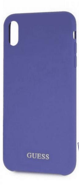 Kалъф от Guess Silicone Gold Logo Case за iPhone XR - Purple