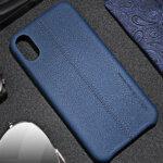 USAMS Joe Leather Hard Case Blue for iPhone X/XS