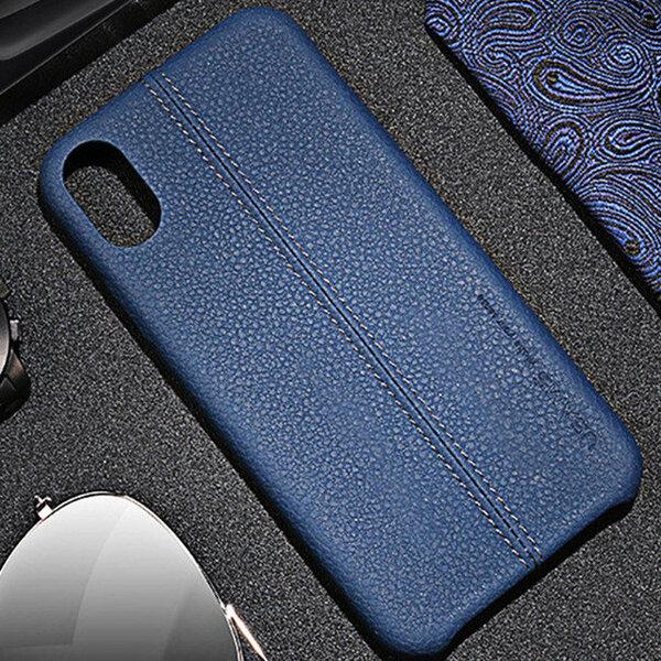 Kалъф от USAMS Joe Leather Hard Case за iPhone X/XS - Blue