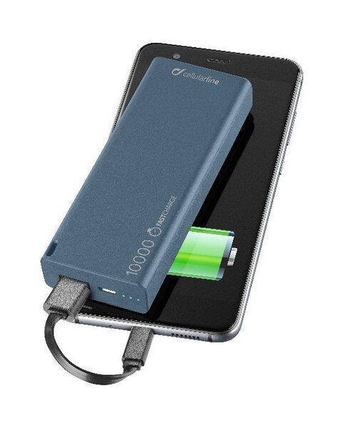 Външна Батерия CELLULAR POWER BANK 10000 MAH BLUE