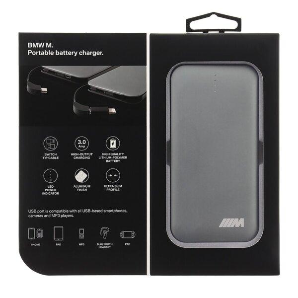 Външна батерия PowerBank BMW M 8000mAh Dark Grey