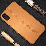 Kалъф от USAMS JEO Series PU Leather Coated PC за Iphone X/XS - Yellow