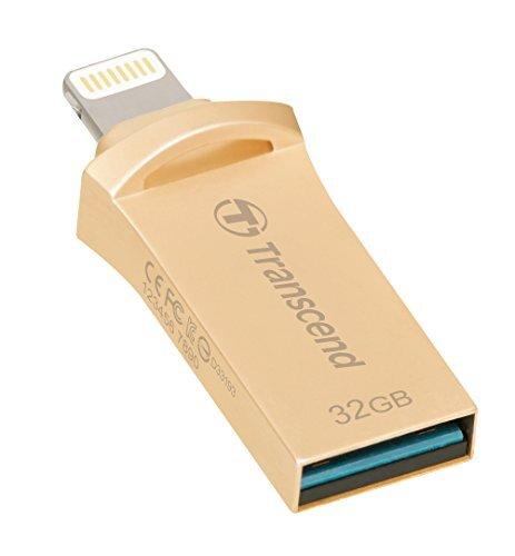 Transcend 32GB JetDrive Go 500 USB Flash Drive, Gold (TS32GJDG500G)