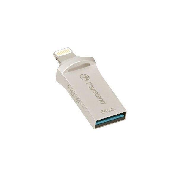 Transcend 64GB JetDrive Go 500 USB Flash Drive, Silver