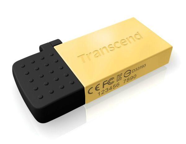 Transcend 64GB Jetflash 380G OTG USB2.0 Flash Drive - Gold Edition