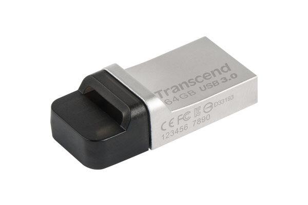 TRANSCEND JETFLASH 880S USB 3.0 OTG 64GB 64G 64 G GB SILVER USB FLASH DRIVE