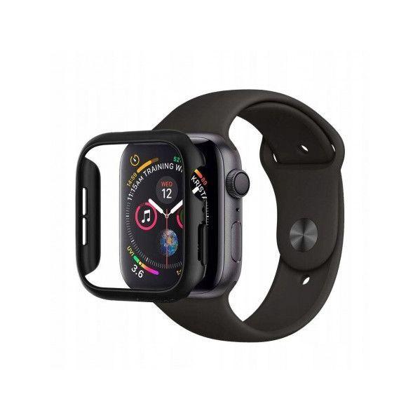 Spigen Thin Fit Case - качествен твърд кейс за Apple Watch 4 (40 mm) (черен)