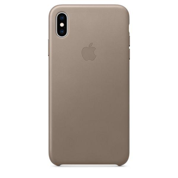 Калъф от Apple Leather Case за iPhone XS Max  - Taupe