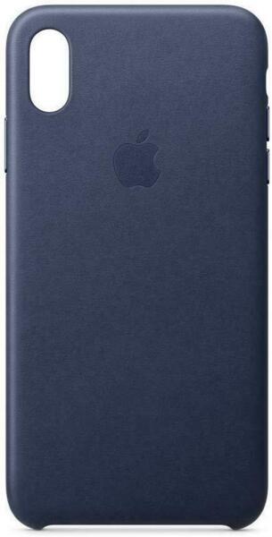 Калъф от Apple Leather Case за iPhone Xs Max - Midnight Blue