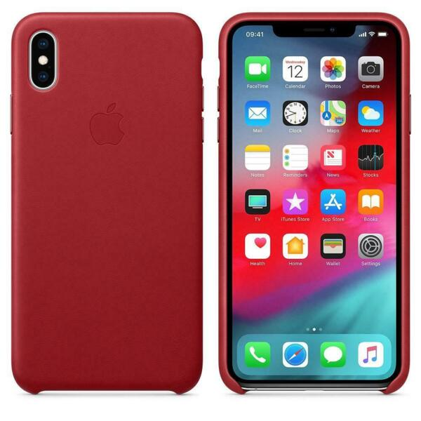 Калъф от Apple Leather Case за iPhone XS Max  - (PRODUCT)RED