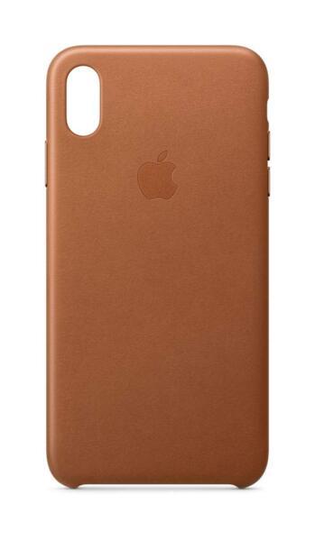 Калъф от Apple Leather Case за iPhone XS Max  - Saddle Brown