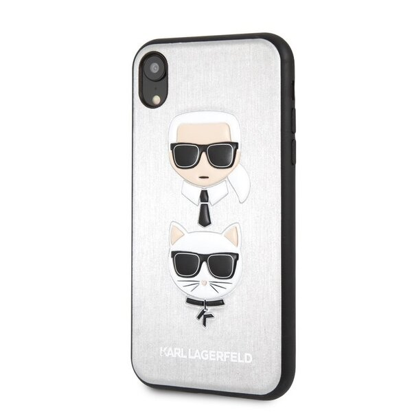 Калъф Karl Lagerfeld Karl and Choupette  Hard Case за iPhone XR