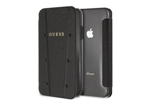 Черен калъф Guess  Kaia Book Case Black за iPhone XR