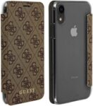Guess Charms Book Case 4G Brown pro iPhone XR