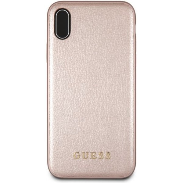 Guess PU Leather Hard Case Iridescent Rose Gold for iPhone XR