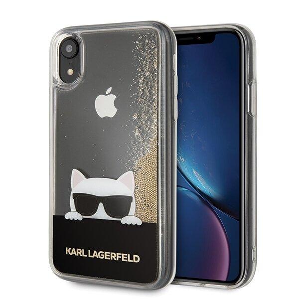 Течно злато Калъф нKarl Lagerfeld за iPhone XR KLHCI61CHPEEGO gold hard case Liquid