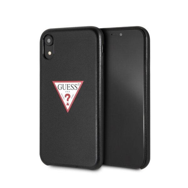 Черен кейс Guess   PU Leather Case Triangle Black pro за iPhone XR