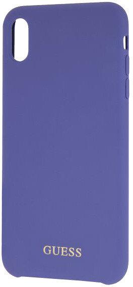 Лилав силиконов кейс Guess  Silicone Gold Logo Case Purple за  iPhone XS Max