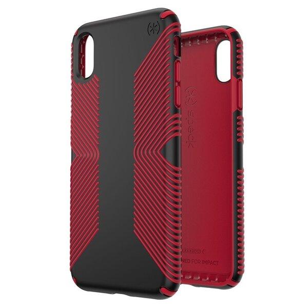 Черен/червен Калъф Speck за iPhone XR PRESIDIO GRIP (BLACK/DARK POPPY RED)