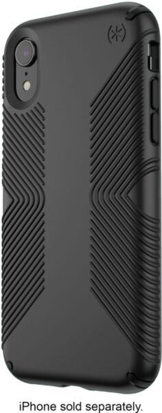 Черен кейс Speck за iPhone XR PRESIDIO GRIP (BLACK/BLACK)