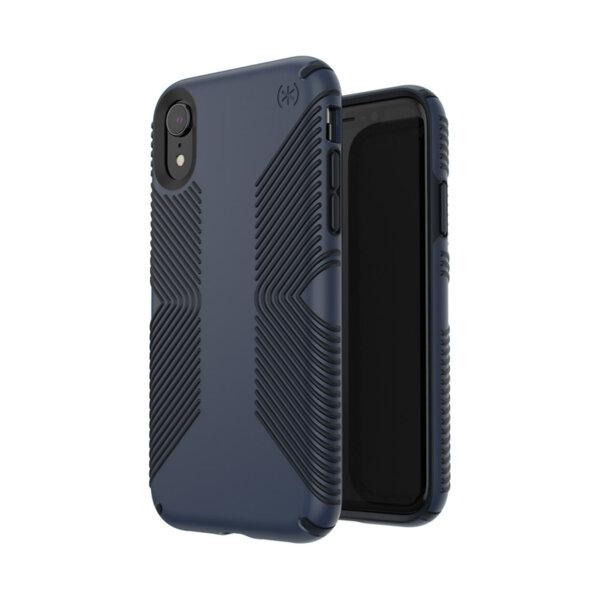 Син/черен Speck за iPhone XR PRESIDIO GRIP (ECLIPSE BLUE/CARBON BLACK)