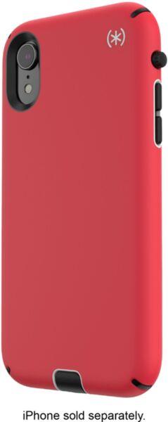 Червен кейс Speck за iPhone XR PRESIDIO SPORT (HEARTRATE RED/SIDEWALK GREY/BLACK)