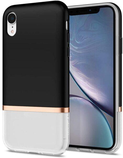 Кейс черен/бял Spigen La Manon Jupe за Iphone XR Milk Black
