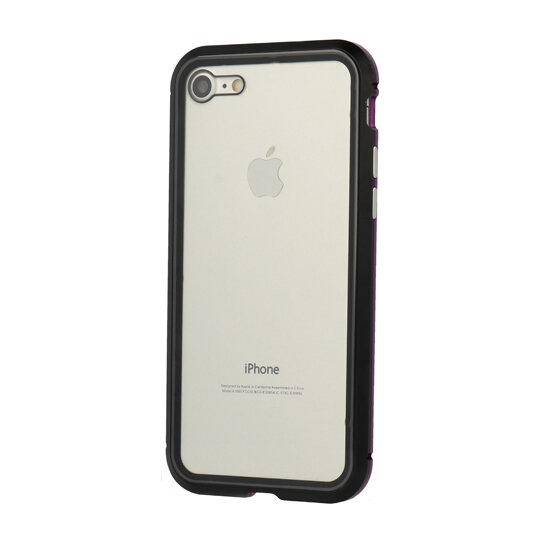 Черен/лилав Кейс Luphie Bicolor Magnetic Sword Case за iPhone XR