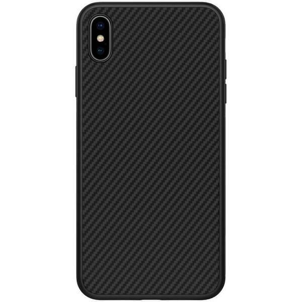 Черен/карбонов кейс Nillkin за  iPhone XS Max Synthetic Fiber Protective Hard Case Carbon Black
