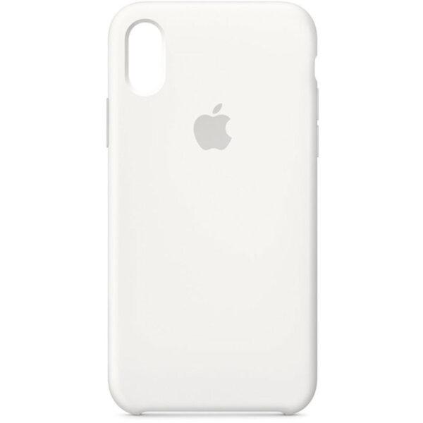 Бял силиконов кейс на Apple за iPhone X Silicone Case (White)