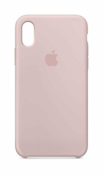 Розов силиконов кейс на Apple за iPhone X Silicone Case (Pink Sand)