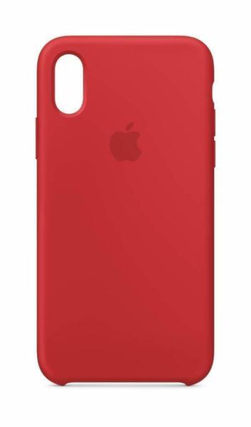 Червен силиконов кейс на Apple за iPhone Xs Silicone Case ((PRODUCT) RED)