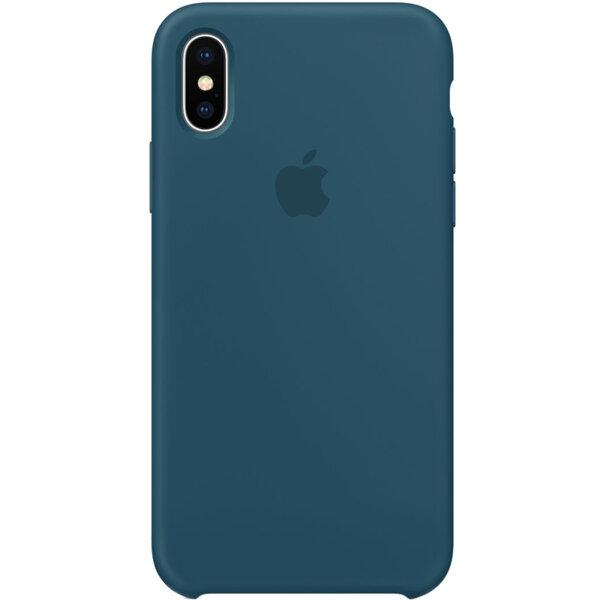 Силиконов кейс син на Apple Silicone Case за iPhone X - Cosmos Blue