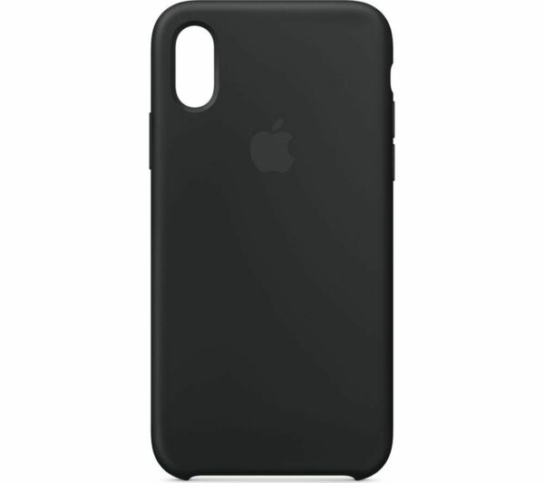 Черен силиконов кейс на Apple за iPhone XS Silicone Case - Black
