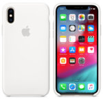 Apple iPhone Xs Silicone Case (White)