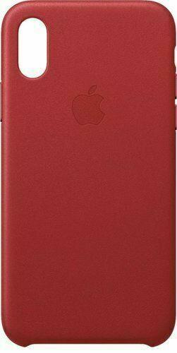 Червен кожен кейс Apple за iPhone XS Leather Case - (PRODUCT) RED