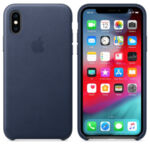 Apple iPhone XS Leather Case - (Midnight Blue)